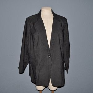 New FASHION BUG Black Pinstripe Blazer Jacket NWT